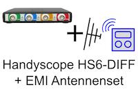 Set, bestehend aus Handyscope HS6-DIFF1000XMG + EMI-Antennenset