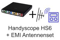 Set, bestehend aus Handyscope HS6-1000XM + EMI-Antennenset