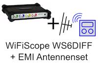 Set, bestehend aus WiFiScope WS6-DIFF1000XMG + EMI-Antennenset