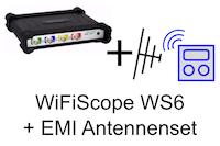 Set, bestehend aus WiFiScope WS6-1000XM + EMI-Antennenset